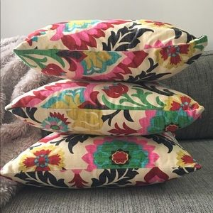 Floral Cotton Throw Pillow Cover